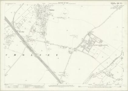 Berkshire XXII.2 (includes: Checkendon; Cholsey; Crowmarsh; Ipsden) - 25 Inch Map