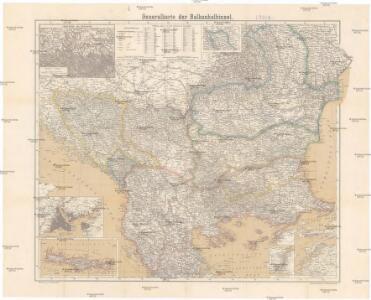 Generalkarte der Balkanhalbinsel