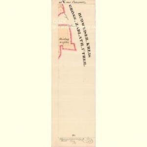 Cziczienitz - c1005-1-006 - Kaiserpflichtexemplar der Landkarten des stabilen Katasters