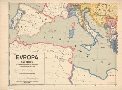 Evropa XIX. století: od vídeňského kongresu r. 1815, do rozhodnutí na frontách světové války r. 1918