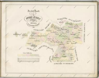 Mapy lesních porostů velkostatku Kout - revíry Orlovice, Chalupy a Liščí