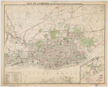 City of Liverpool : area 14,909 acres (exclusive of half of River Mersey)