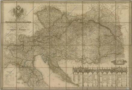 Neueste General-Post-und Strassen Karte Der Oesterreichischen Monarchie...