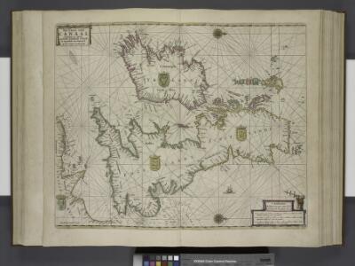 Paskaert, de Kusten van't Kanael, vertoonende alle, de Kusten van Engelandt, Schotlant, en Yerlandt, en een gedeelte van Vranckrijck.