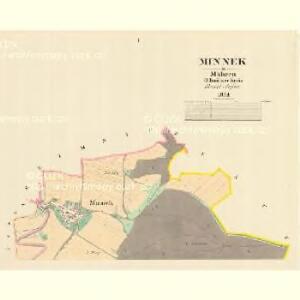Minnek - m1762-1-001 - Kaiserpflichtexemplar der Landkarten des stabilen Katasters