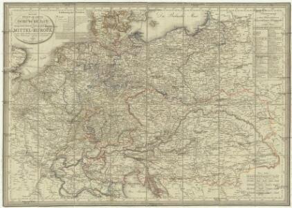 Neueste Post-Karte von Deutschland und dem grösten Theil der umliegenden Staaten oder Mittel-Europa