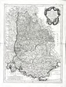 Carte des gouvernements de Dauphiné et de Provence