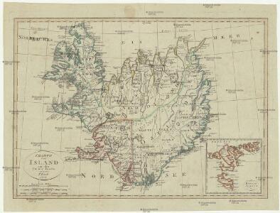 Charte von Island und den Färöer Inseln