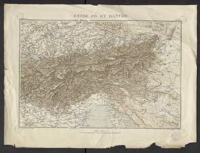Géographie. croquis n4, Entre Pô et Danube