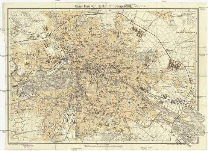 Neuer Plan von Berlin mit Umgebung