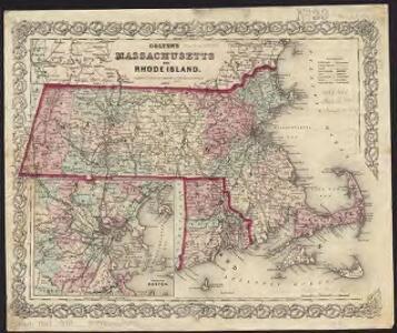 Colton's Massachusetts and Rhode Island