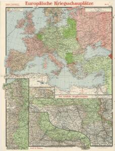 Paasche's Frontenkarte, Nr. 11 Europäische Kriegsschauplätze