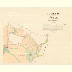 Gdossau - m1171-1-002 - Kaiserpflichtexemplar der Landkarten des stabilen Katasters
