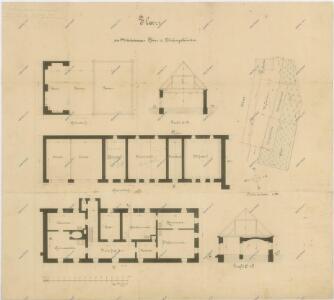 Plán budov mladošovické fary 1