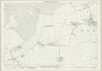 Suffolk LV.10 (includes: Bradfield St Clare; Bradfield St George; Cockfield; Felsham; Gedding; Thorpe Morieux) - 25 Inch Map