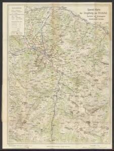 Spezial-Karte der Umgebung von Kitzbuhel