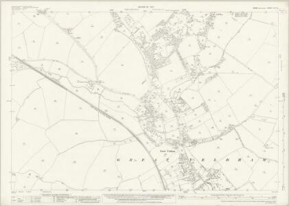 Essex (New Series 1913-) n X.13 (includes: Great Yeldham; Tilbury Juxta Clare) - 25 Inch Map