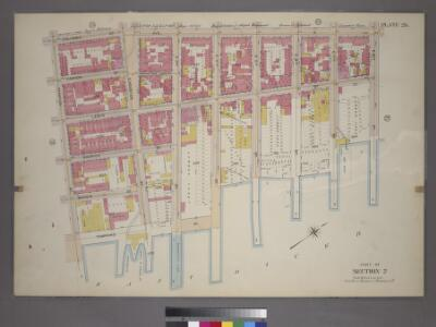Plate 26, Part of Section 2: [Bounded by Columbia Street, Avenue D, E. 8th Street, Lewis Street, E. 4th Street, (East River Piers) Tompkins Street and Stanton Street.]