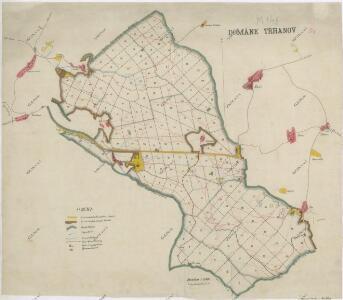 Přehledná lesní mapa velkostatku Trhanov