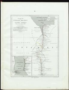 Karte von Speke's Reisen in Inner-Afrika