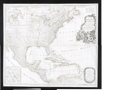 A new map of North America with the West India Islands: divided according to the preliminary articles of peace, signed at Versailles, 20, Jan. 1783; wherein are particularly distinguished the United States and the several provinces, governments & ca. which compose the British dominions / laid down according to the latest surveys and corrected from the original materials of Goverr. Pownall, Membr. of Parliamt., 1783.
