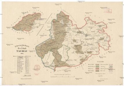 Uibersichtskarte der Herrschaft Tachau