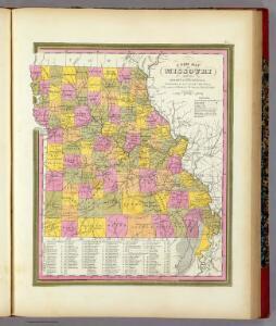 New Map Of Missouri.