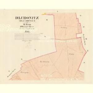 Dluhonitz (Dluhonice) - m0456-1-001 - Kaiserpflichtexemplar der Landkarten des stabilen Katasters