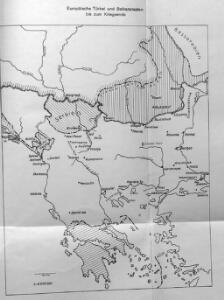 Karten zum russisch-türkischen Krieg 1877-1878. Europäische Türkei und Balkanstaaten bis zum Kriegsende