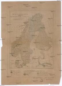 Geologická mapa Skandinávie a Finska