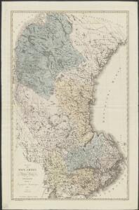 Karta öfver Swearike och norra delen af Swerige