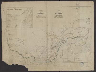 Carte de la Province de Québec, Canada ; pour accompagner la brochure intitulée