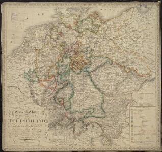 General-Charte von Teutschland nach den besten Quellen bearbeitet und den neuesten politischen Veraenderungen begrenzt