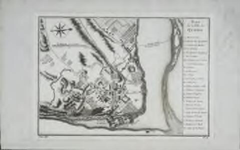 Plan de la ville de Quebec