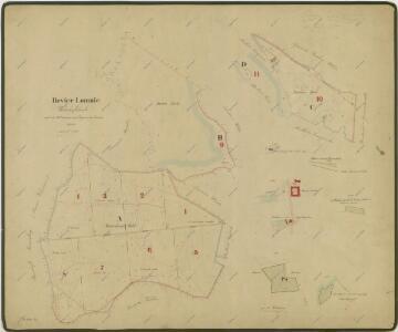 Hospodářská mapa polesí Lomnice 1