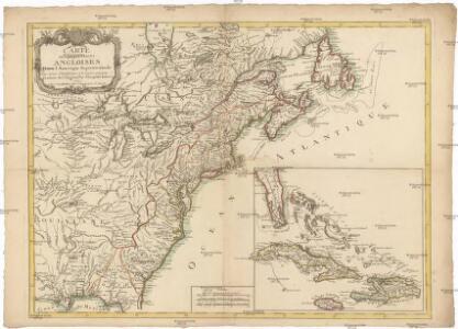 Carte des possessions angloises dans l'Amerique Septentrionale