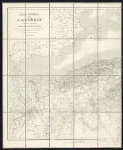 Carte générale de l'Algérie à l'échelle de 1 m. pour 1,600,000 m