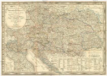 Neueste General-Post-& Strassen-Karte der Oesterreichischen Monarchie
