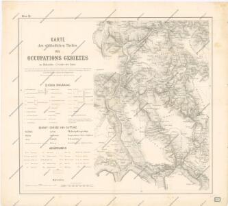 Karte des südlichen Theiles des Occupationsgebietes blatt III.