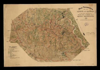 Mapa topografich de la montanya de Montserrat i de ses vessants / publicat per la redacció de la Revista Montserratina; deliniat per D. Joan Cabeza