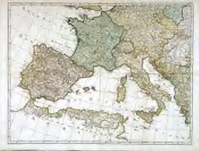 Karte von Europa, 3