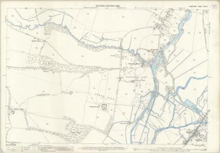Hampshire and Isle of Wight XXXIX.11 (includes: Bossington; Broughton; Houghton; Kings Somborne) - 25 Inch Map
