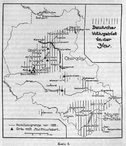 Deutsches Volksgebiet in der Zips