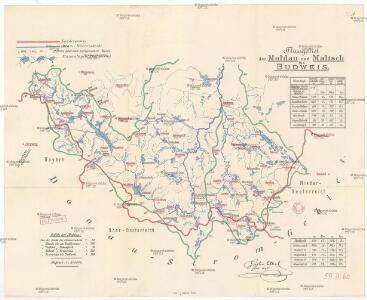 Flussgebiet der Moldau und Maltsch bis Budweis