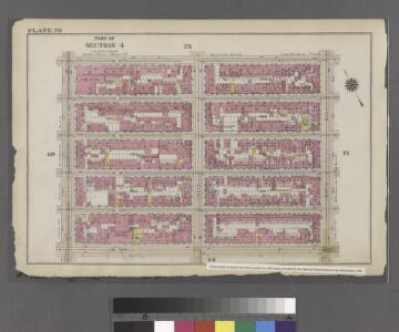 Plate 70: Bounded by W. 47th Street, Ninth Avenue, W. 42nd Street, and Eleventh Avenue.