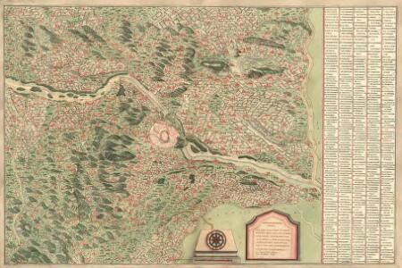 Chorographische Mappa von der Situation um Wienn auf XII. Meil Wegs, mit Anmerkung aller Herrschaften Selbiche zugeherich