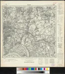 Messtischblatt 2576 : Essen im Rheinland, 1935 Essen im Rheinland
