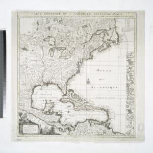Carte générale de l'Amérique séptentrionale: avec les posséssions Angloises dans cette partie du nouveau monde / dressée sur la carte de Pople [sic], publiée à Londres en 20 feuilles, pour servir à l'intelligence de la guerre présente.