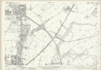 Lancashire CXII.1 (includes: Bredbury And Romiley; Denton; Stockport) - 25 Inch Map