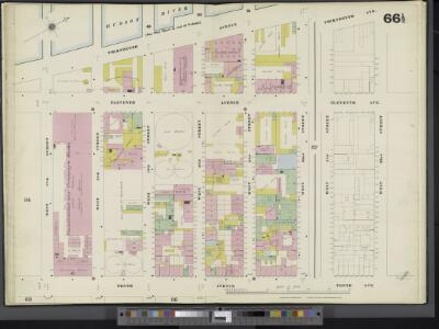 Manhattan, V. 3, Double Page Plate No. 66 1/2 [Map bounded by Hudson River, W. 22nd St., 10th Ave., W. 17th St.]